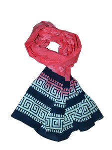 Coral Pink & Key Scarf - Good Cloth