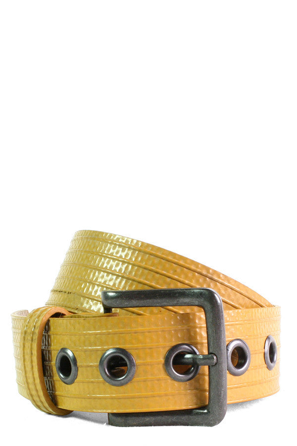 Defeat DIPG Collection | Yellow Fire Hose Belt - Good Cloth