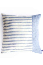 Two-in-one: Organic Cotton Blue & White Striped Pillow Cover