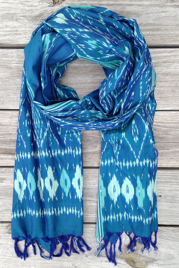 Caribbean Dreams Winter Ikat Scarf - Good Cloth