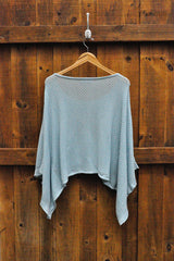 Chevron Poncho in Blue - Good Cloth