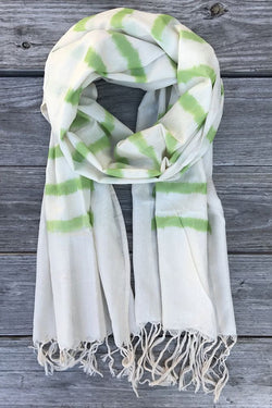 Green Striped Scarf