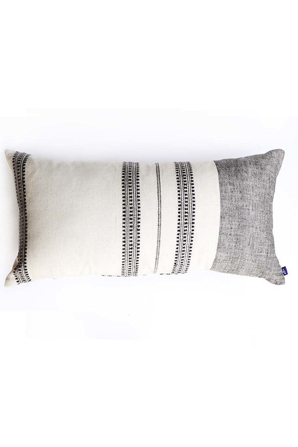 Grey Oblong Pillow Cover