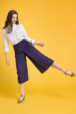 Culottes in Navy