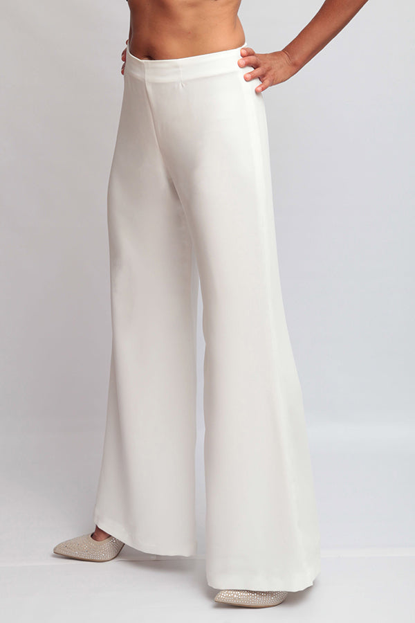 Bridal: Katherine Hepburn Pants in Wedding White or Blush