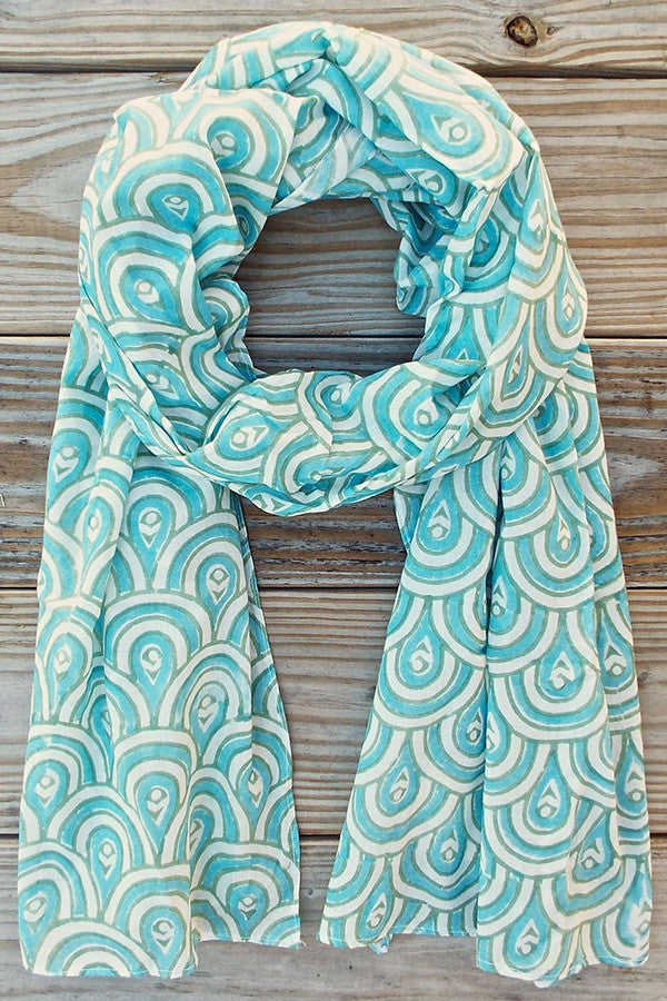 Peacock Teal Scarf | Not For Sale Collection - Good Cloth