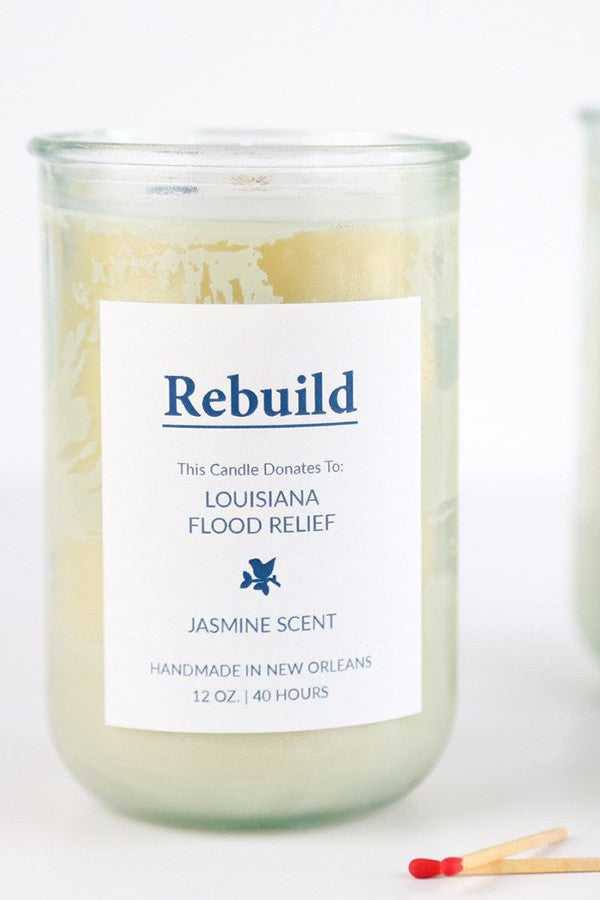 Rebuild Louisiana Cause Candle in Jasmine
