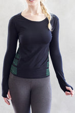 Power Organic Cotton Long Sleeve Top with Thumbholes