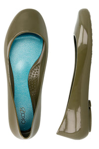 NEW! Ballerina Flats in Dirty Martini