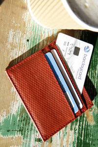 Minimalist Fire Hose Wallet—Triple Credit Card Holder