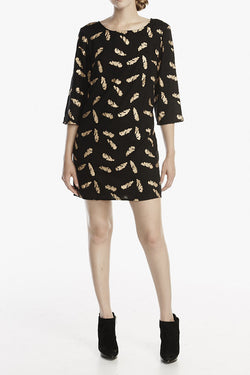 Good Cloth Exclusive Limited Edition: Breezy Feather Shift Dress - Good Cloth