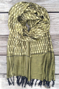 Olive Ikat Scarf - Good Cloth