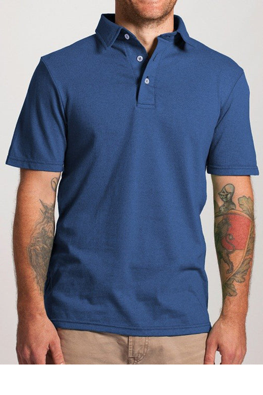 Polo in BlueStar - Good Cloth