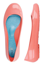 Ballerina Flats in Coral