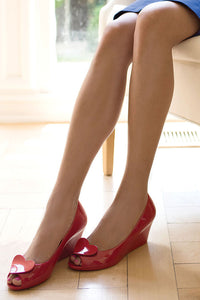 Valentine Peep Toe Wedges - Good Cloth