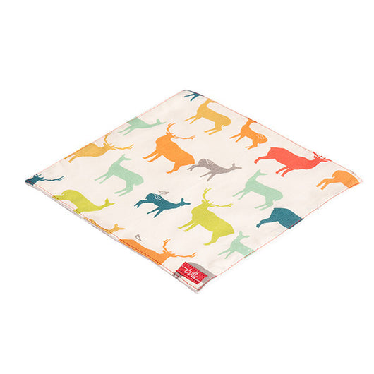 Deer Organic Cotton Poplin and Terry Washcloth - Good Cloth