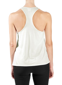 Bamboo Viscose Racerback Year-Round Tank in Cream - Good Cloth