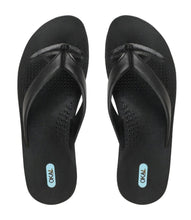 """Throw Them In The Wash"" Men's Flip Flops In Black - Good Cloth"