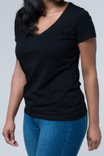 Everyday V-Neck Black Tee--1 Small and 1 XL Left