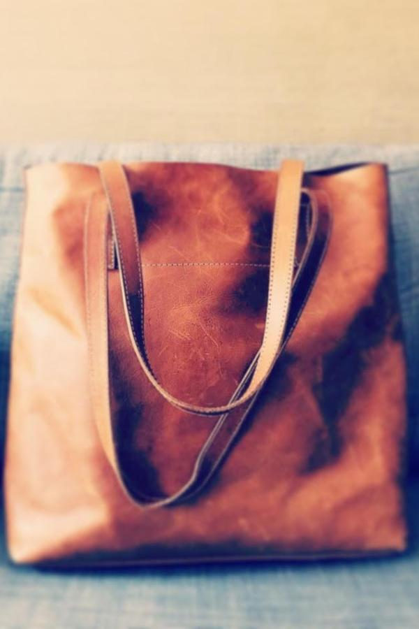 Vegetable-Tanned Everyday Tote in Brown