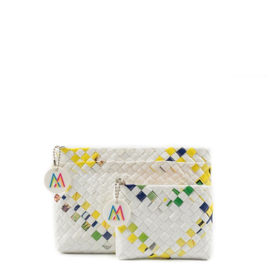 Yellow Reclaimed Sack Clutch Set