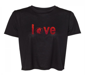 """LOVE"" CROP T SHIRT"