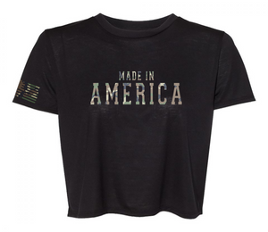 """MADE IN AMERICA"" CROPT SHIRT"