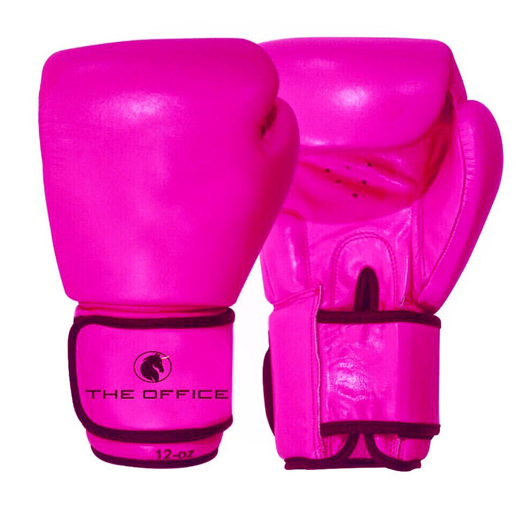 Neon Pink Boxing gloves