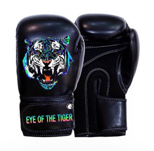 """Eye of the Tiger"" Boxing Gloves by artist Jay Shogo"