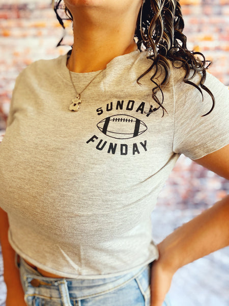 Football Sunday crop top