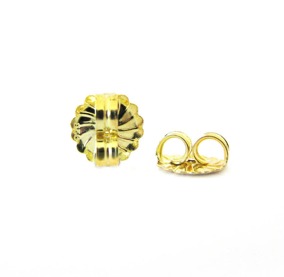 Post Clutch 1 Pair 11mm Large Ear Nut Gold Vermeil F115 or Gold Filled RZ115