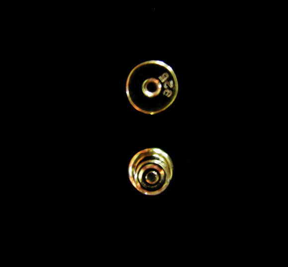 Vermeil Post Clutch Silicone Stopper 1 Pair 5.3mm Small Ear Nut Gold Vermeil Style