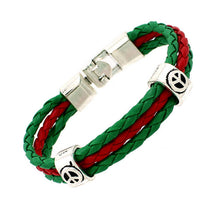 World Cup Soccer National Flags 3 Strands Leather Bracelets