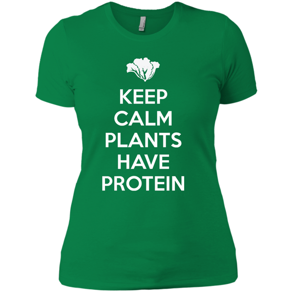 Keep Calm Plants Have Protein Ladies Boyfriend T-Shirt