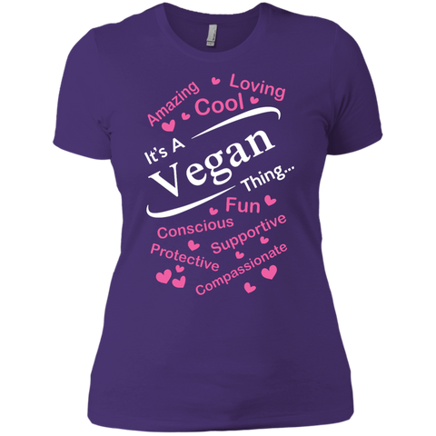 It's A Vegan Thing Ladies Boyfriend T-Shirt