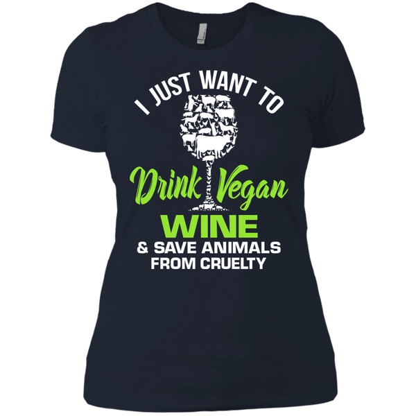 Vegan Wine - Ladies T-Shirt
