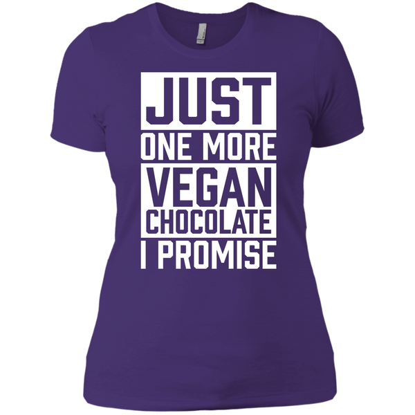 One More Vegan Chocolate Ladies Boyfriend T-Shirt