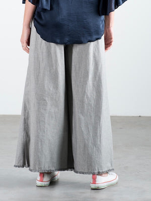 The Fringe Pant - Grey Cotton