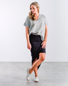 The Knit Skirt- Black
