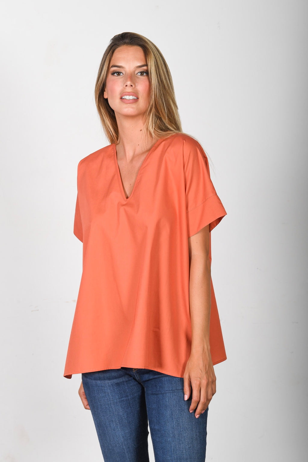 The Nicole - Pumpkin Poplin