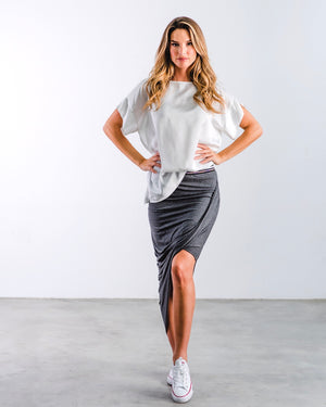 The Knit Skirt- Charcoal