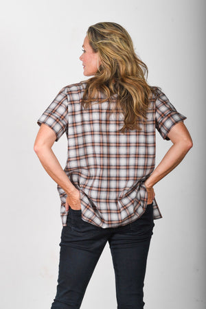 The Nicole - Brown / Blue Plaid
