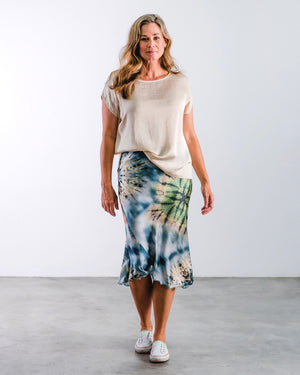 The Bias Skirt- Blue Tie Dye