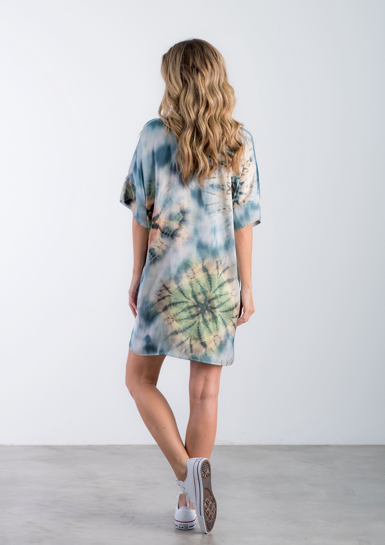 The Dottie - Blue Tie Dye Print