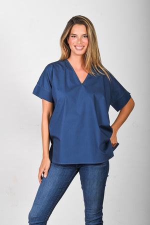The Nicole - Blue Poplin