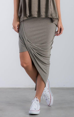 The Knit Skirt- Army