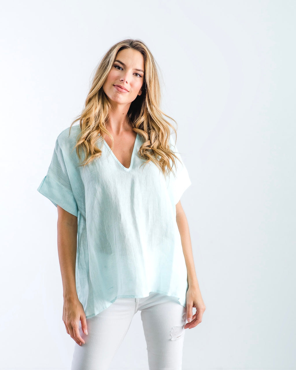The Nicole - Mint Linen