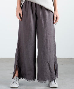 The Fringe Pant - Taupe Linen