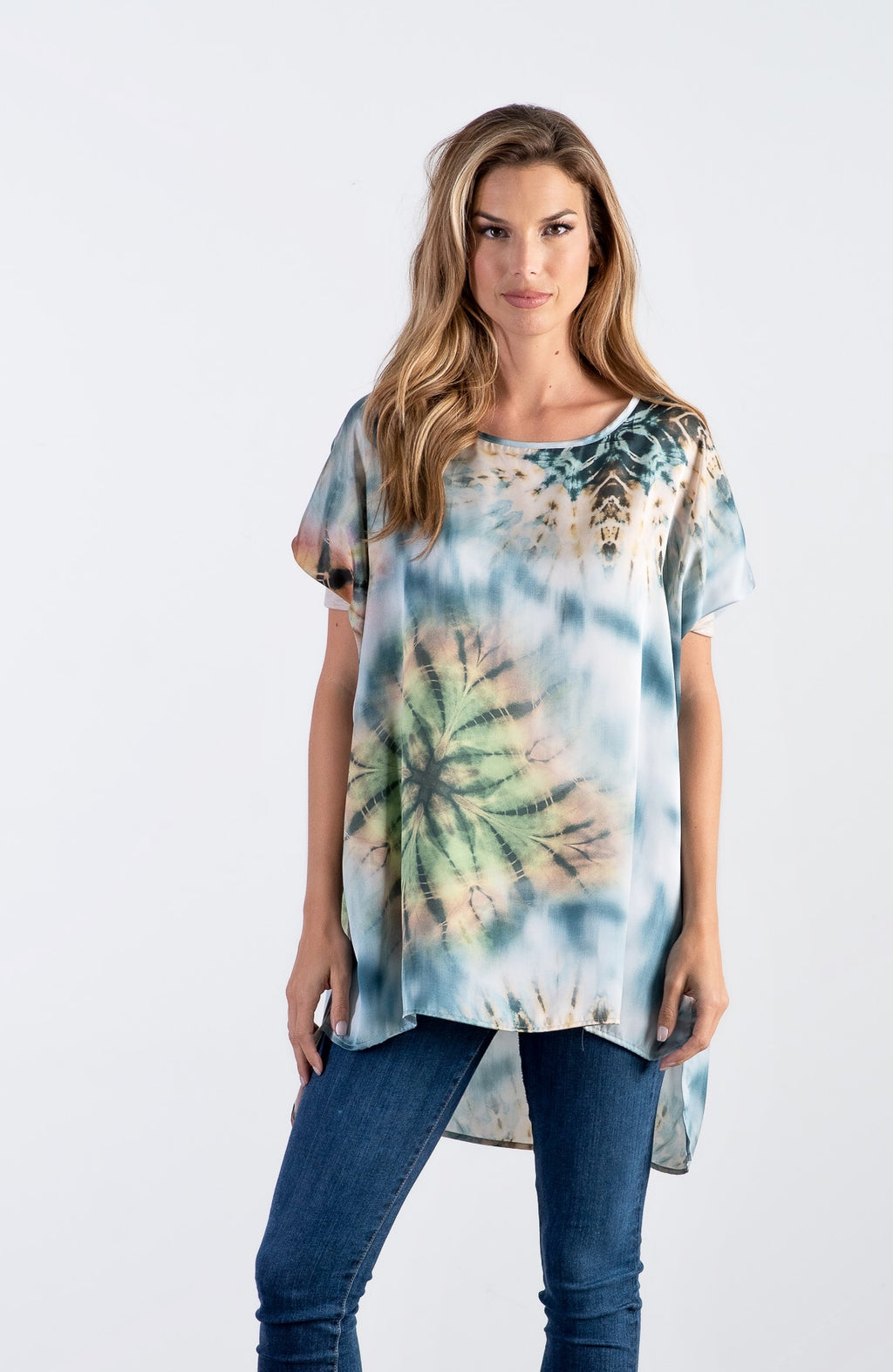 The Mia - Blue Tie Dye Print