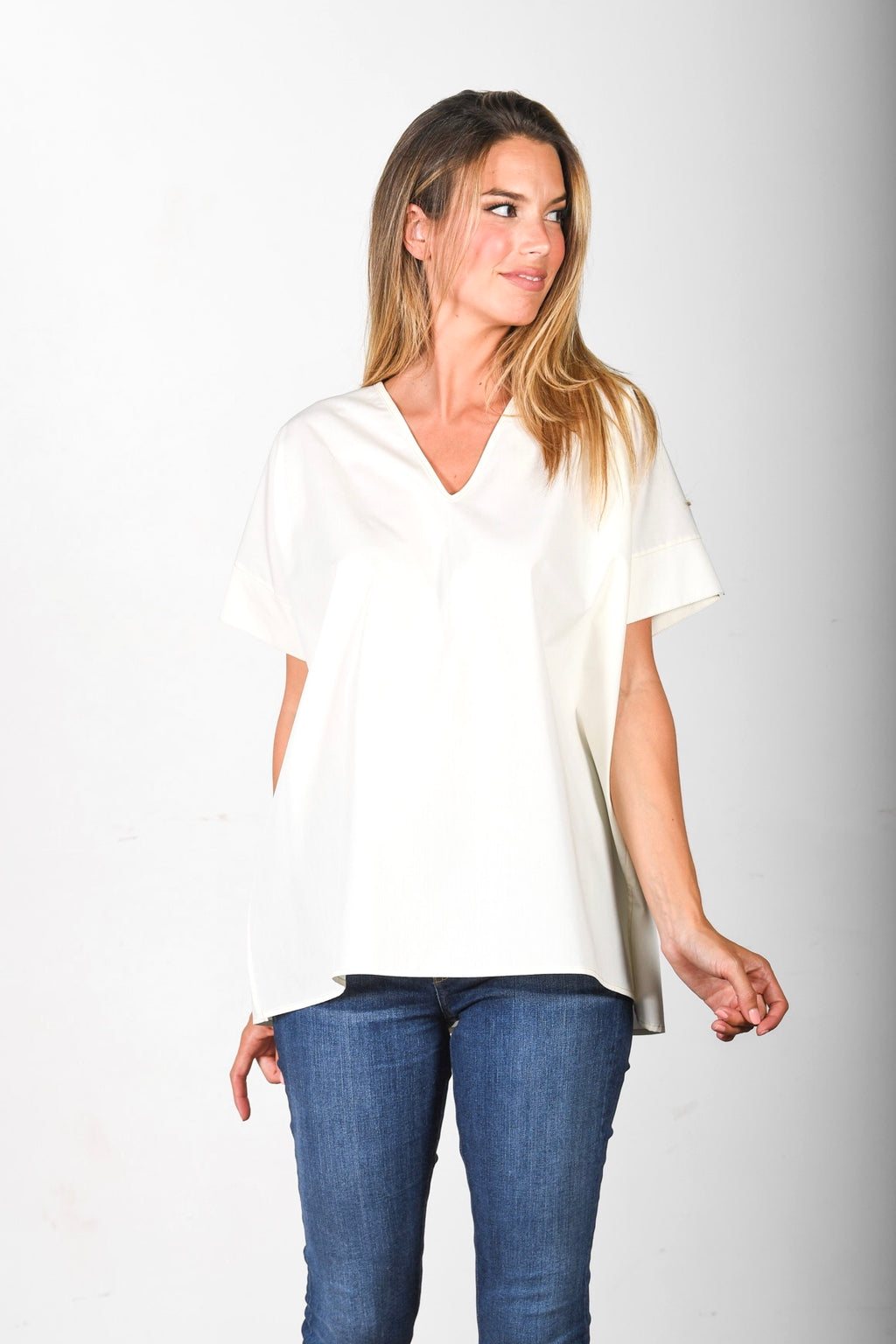 The Nicole - Cream Poplin